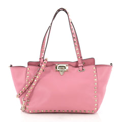 Valentino Rockstud Tote Soft Leather Small Pink 3944503