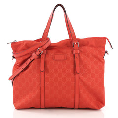 Gucci Light Tote Guccissima Nylon Medium Red 3944611