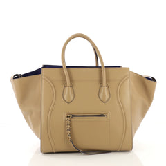 Celine Phantom Handbag Smooth Leather Medium Neutral 394521