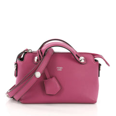 Fendi By The Way Satchel Calfskin Mini Pink