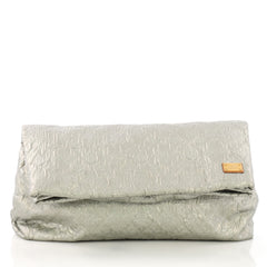 Louis Vuitton Limelight Clutch Metallic Jacquard Textile GM Gray 394941
