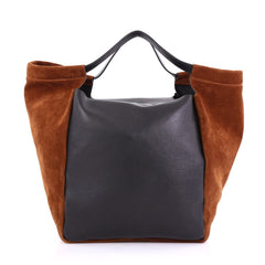 Givenchy Zip Shopping Tote Leather and Suede Large Brown 3949501