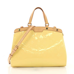 Louis Vuitton Brea Handbag Monogram Vernis MM Yellow 3950324