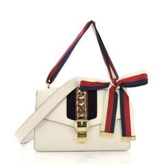 76524d205cf4 Gucci Sylvie Shoulder Bag Leather Small White 3950360