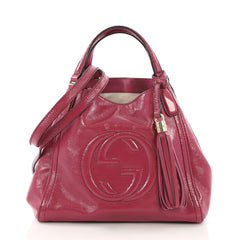 Gucci Soho Convertible Shoulder Bag Patent Small Pink 39515105