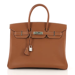 Hermes Birkin Handbag Brown Epsom with Palladium Hardware 3951511