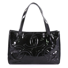 Chanel Triple CC Tote Patent Large Black