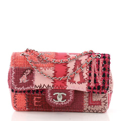 Chanel Flap Bag Multicolor Patchwork Medium Pink 39515133