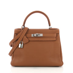 Hermes Eclat Kelly Handbag Togo with Palladium Hardware 28 3951517