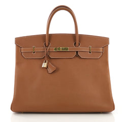 Hermes Birkin Handbag Brown Courchevel with Gold Hardware 40 395152