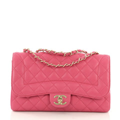 e3ad804f57cc Chanel Mademoiselle Chic Flap Bag Quilted Lambskin Medium Pink 3951537