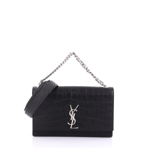 ab596e49b674 Saint Laurent Classic Monogram Shoulder Bag Crocodile 3951567 – Rebag