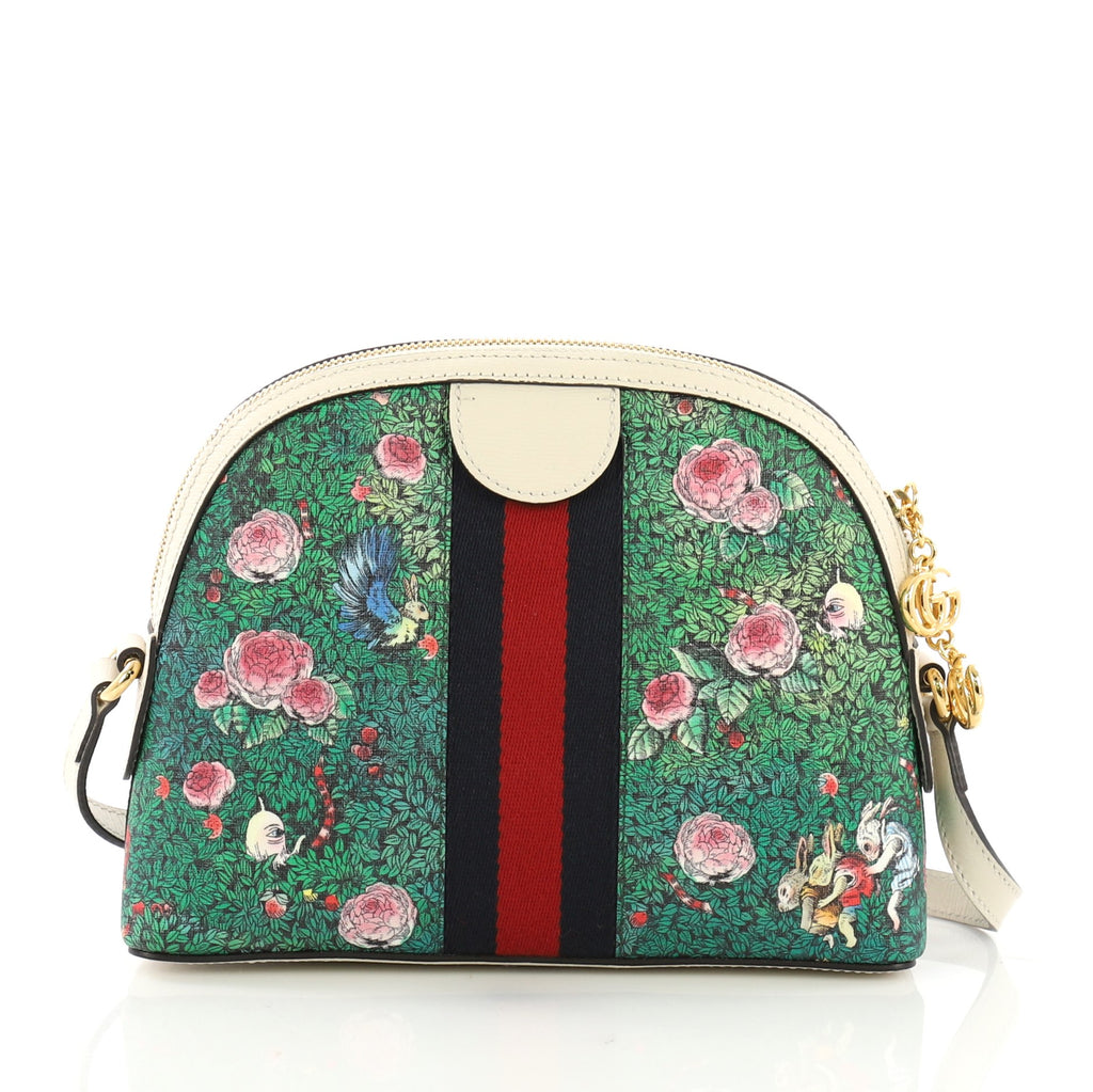 06e8d94da09 Gucci Ophidia Dome Shoulder Bag Printed GG Coated Canvas 3951585 – Rebag