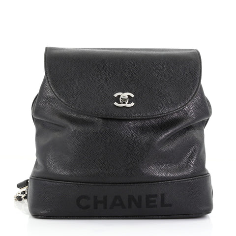 Chanel Vintage Backpack Caviar Medium Black 3951594 – Rebag 1c069c0a392ad