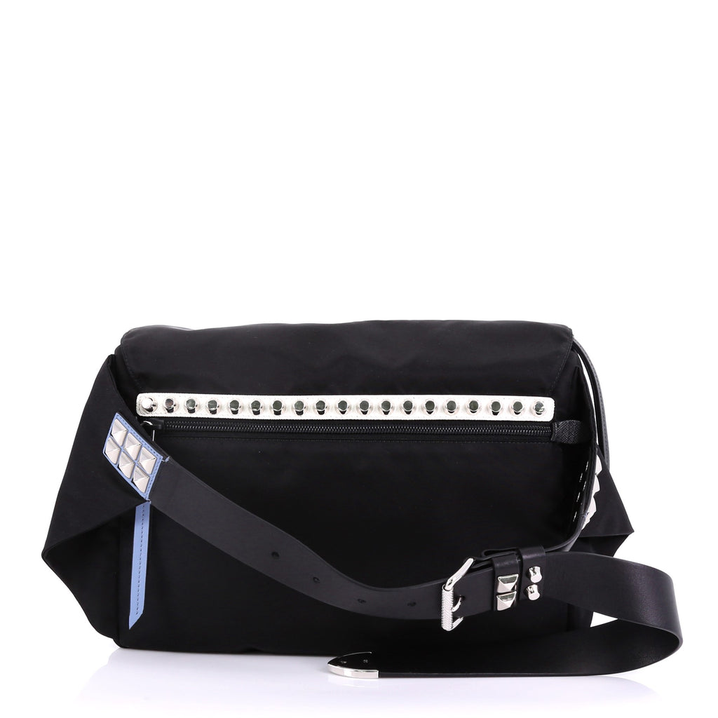 39516d2ad3a27d Prada New Vela Belt Bag Tessuto with Studded Leather Small 3951811 ...