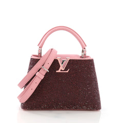 Louis Vuitton Capucines Handbag Sequins BB Pink 395396