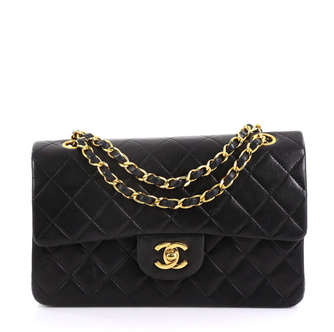e950fee492f3 Chanel Vintage Classic Double Flap Bag Quilted Lambskin 3954028 – Rebag
