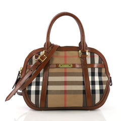 Burberry Bridle Orchard Bag House Check Canvas Small Brown 3955801