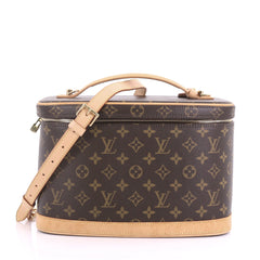 Louis Vuitton Nice Train Case Monogram Canvas Brown 396084
