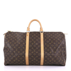 Louis Vuitton Keepall Bag Monogram Canvas 55 Brown 3961394
