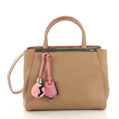 Fendi 2Jours Handbag Leather Petite Neutral