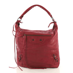 Balenciaga Day Hobo Classic Studs Leather Red 3961783