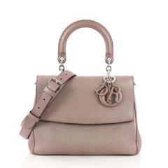 Christian Dior Be Dior Bag Pebbled Leather Small Pink 396241