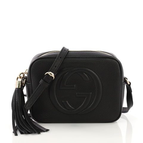 494934fda Gucci Soho Disco Crossbody Bag Leather Small Black 396311 – Rebag