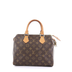 Louis Vuitton Speedy Handbag Monogram Canvas 25 Brown 396401