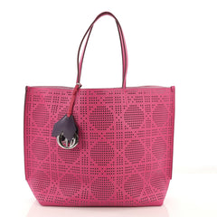 Christian Dior Dioriva Tote Perforated Leather Pink 3966720