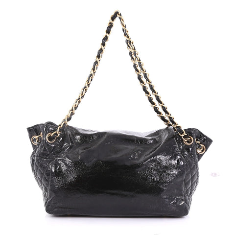 c79eaa72e036 Chanel Rock and Chain Accordion Flap Bag Patent Vinyl Small 396677 ...