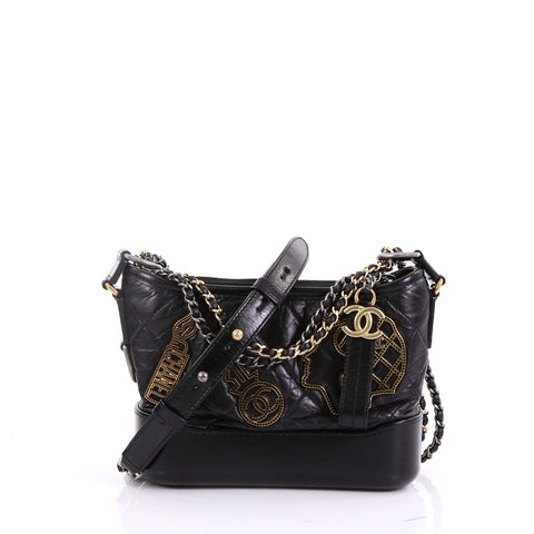 4fe8e57f6a5e27 Chanel Gabrielle Hobo Embellished Quilted Aged Calfskin 3968510 – Rebag