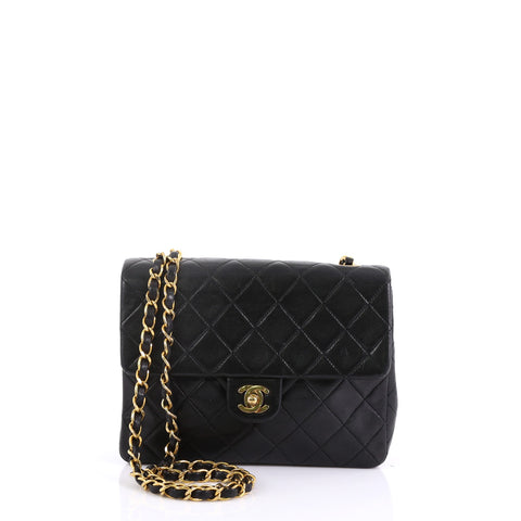 50fe52cbac2d Chanel Vintage Square Classic Flap Bag Quilted Lambskin 3968515 – Rebag