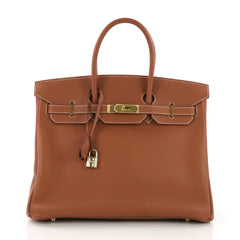 fbeedba3d0b7 Hermes Birkin Handbag Brown Togo with Gold Hardware 35 3968529