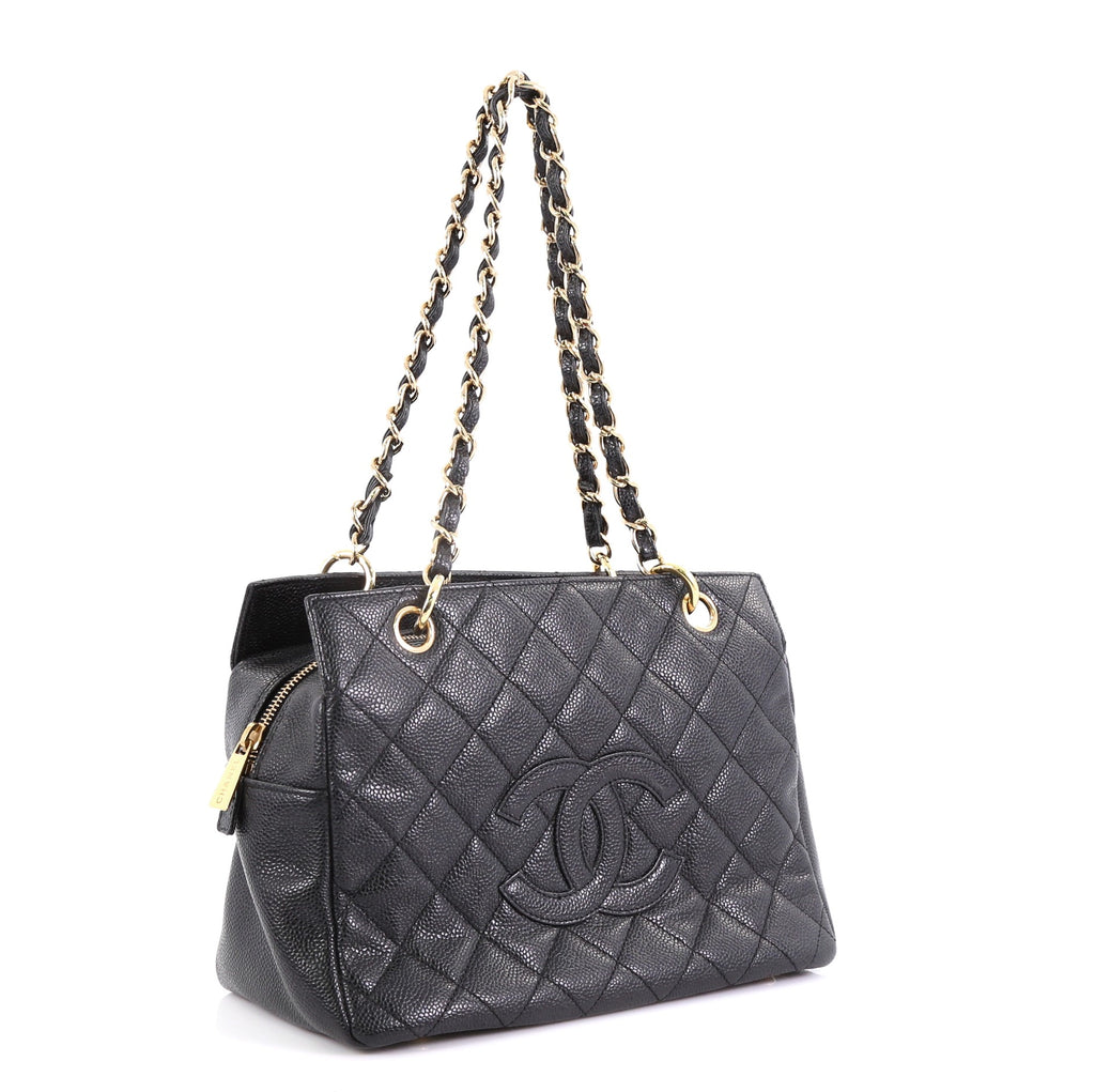 643b1b776c98 Chanel Petite Timeless Tote Quilted Caviar Black 396852 – Rebag