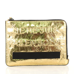 Chanel Feminine Pouch Crinkled Leather Medium Gold