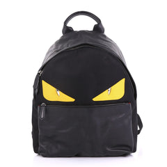 Fendi Monster Backpack Nylon Large Black