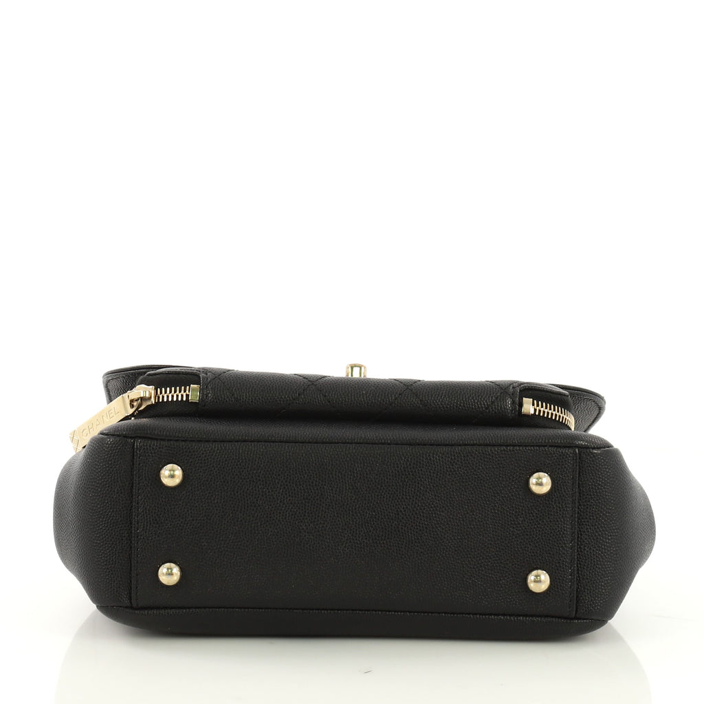1f23ae77f8a7 Chanel Business Affinity Flap Bag Quilted Caviar Small Black 396882 ...