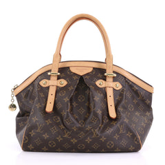 Louis Vuitton Tivoli Handbag Monogram Canvas GM Brown 396961