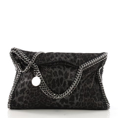 Stella McCartney Falabella Fold Over Bag Shaggy Deer Black 396971