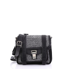 Proenza Schouler PS1 Pouch Tweed Black 3971001