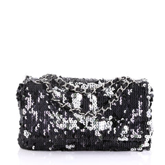 Chanel Summer Night Flap Bag Sequins with Leather Medium 3971114