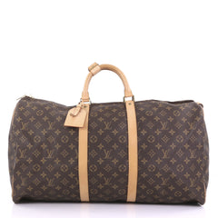 Louis Vuitton Keepall Bag Monogram Canvas 55 Brown 3971165