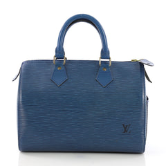 Louis Vuitton Speedy Handbag Epi Leather 25 Blue 3971311
