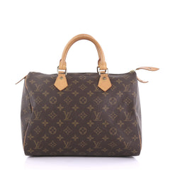 Louis Vuitton Speedy Handbag Monogram Canvas 30 Brown 397136