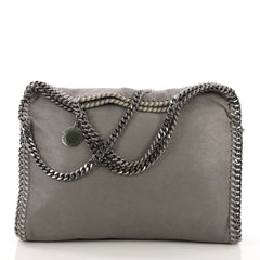 Stella McCartney Falabella Fold Over Bag Shaggy Deer Gray 397241