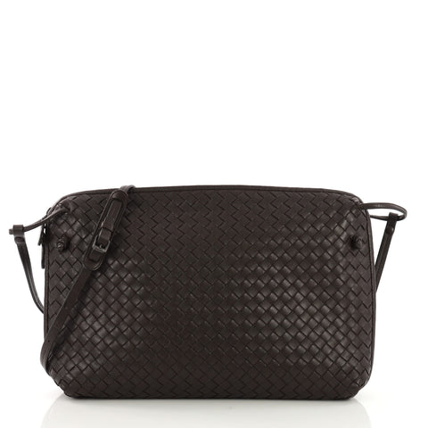 33b45eeab8 Bottega Veneta Crossbody Intrecciato Nappa Medium Brown 397661 – Rebag