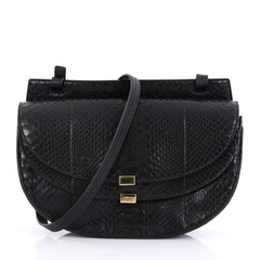 Chloe Georgia Crossbody Bag Python Mini Black 397871