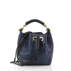 Chloe Gala Bucket Bag Python Small Blue 397893