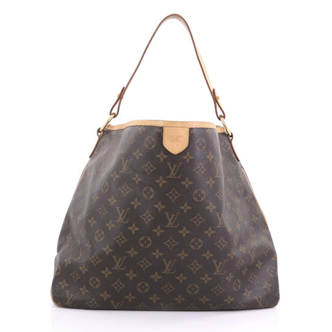90612b5dd29a Louis Vuitton Delightful Handbag Monogram Canvas MM Brown – Rebag
